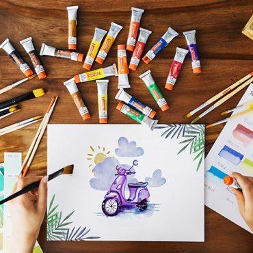Έργα και δημιουργίες των τμημάτων Ζωγραφικής (παιδικού & ενηλίκων)
